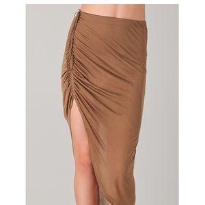 Helmut Lang Drawstring Asymmetrical Skirt